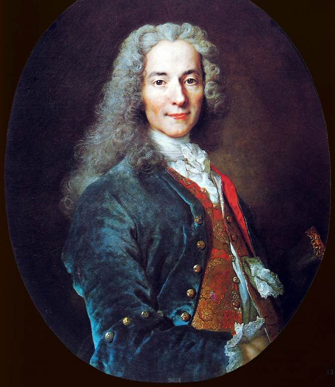 Voltaire im Justaucorps